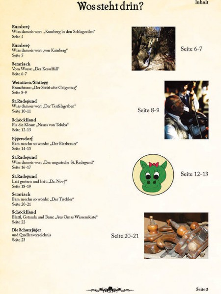 Inhaltsverzeichnis 3. Ausgabe Schöcklschatz Magazin